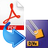 PDF2DJVU Graphical Front-end Icon