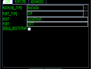 Configuration for an emulator, using an emulated SSC listening on port 1977 (Jace)