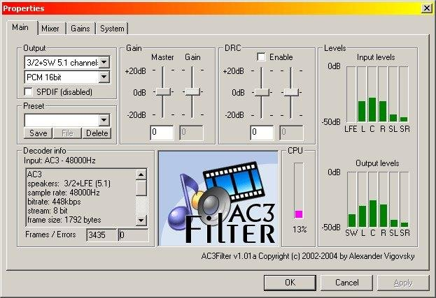 directshow decoder divx player: