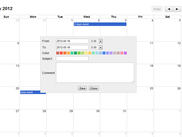 First demo with fullcalendar