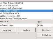 This is the model management dialog (Linux, german)