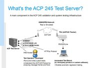 ACP245 Test Server overview
