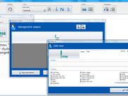 Offers an administrative control panel for user interface customisation