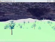 Simple terrain plus trees and skybox