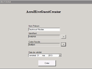Simple Account Creation Interface