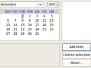 Agender showing year selector