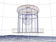 Wireframe view of the lighthouse