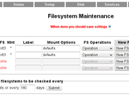 Filesystem Maintenance