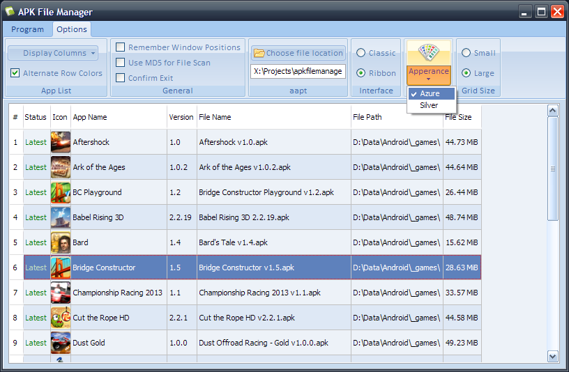 APK File Manager screenshot
