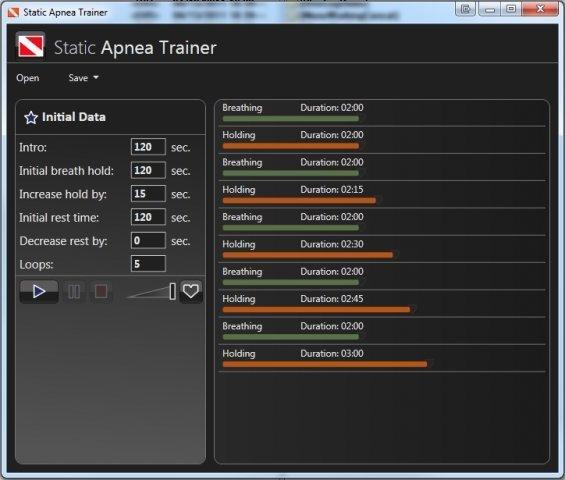 ApneaStaticTrainer screenshot