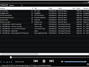 List view with Recent Playlist Options