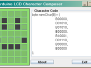 Arduino LCD Character Composer