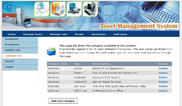asset management templates