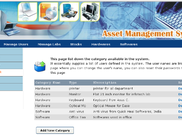 Asset management - Category list page