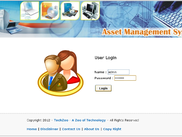 Asset management - Login Page