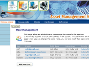 Asset management - Manage User