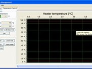 Temperature Graph (slider on right is for thresholds)