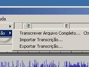Menu Pericia | Transcricao (Forensics | Transcription menu)