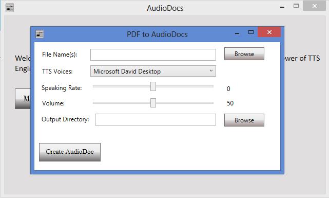 PDF to Audio Converter