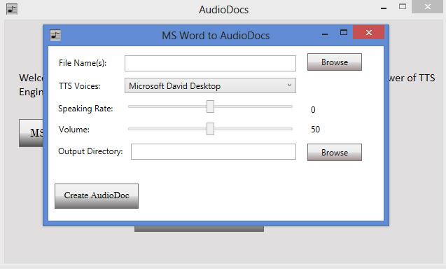 Word to Audio Converter
