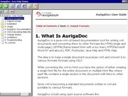 AurigaDoc output sample for Java Help