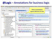 @Logic - annotations for business logic