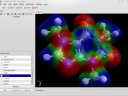 Avogadro 0.9.3 rendering electron density with ESP: KDE4