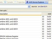 The AVR Device Explorer View