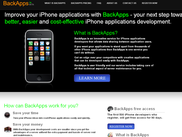 BackApps website home page