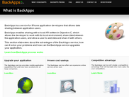 BackApps website - What is BackApps?