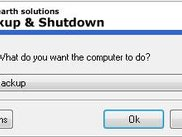Backup and Shutdown Dialog