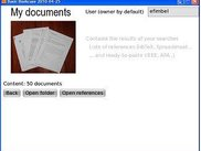 screen 4: My Documents- copies of items+ lists of references
