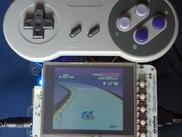A BeagleSNES v0.5 system running on the LCD3 cape