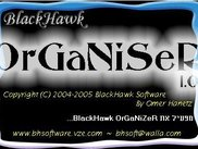 BlackHawk OrGaNiZeR loading splash screen