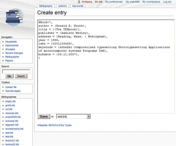 Screenshot 2 BibWiki