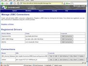Web JDBC drivers manager
