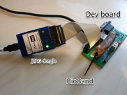 BioBand, breakout board and JTAG dongle