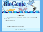 BioGenie Web Application