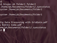 Command line synchronization of two local filesystems