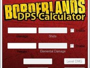 Borderlands DPS Calculator 0.8 Main Window