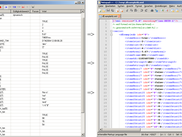 Example with Process-Variables on left are parsed to XML-File on rigth