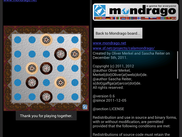 Mondrago v0.6: Board View while playing and About View on Android.
