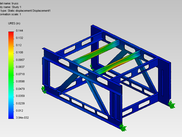 Deslocamentos (in) do SolidWorks Simulation
