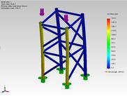 Von Mises (psi) - SolidWorks Simularion