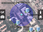 user's location inside campus