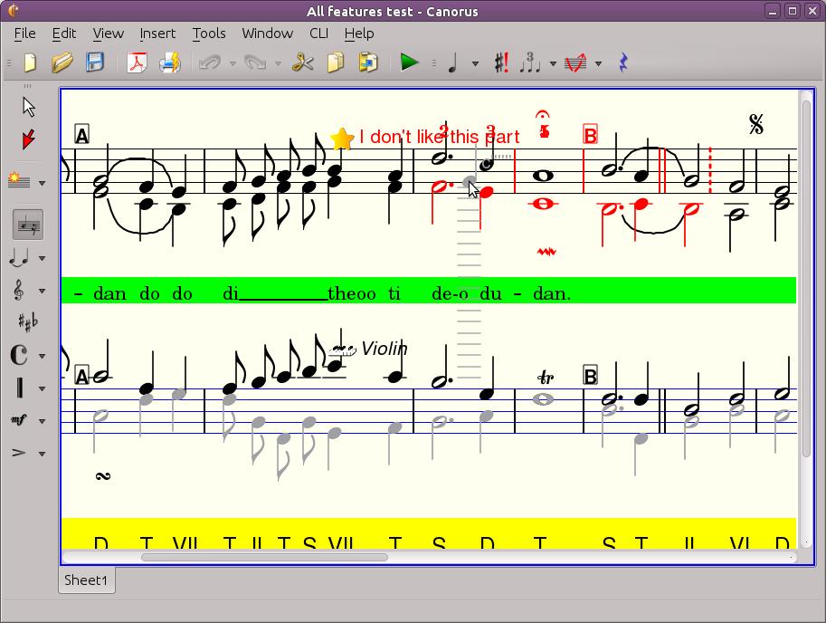 Canorus Editing Score