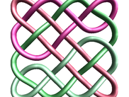2D knot rendered in 3D from above.