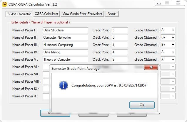 how to find cgpa from sgpa