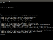 Screenshot Checkstyle CLI output