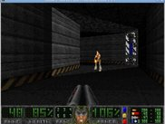 Chocolate Doom running the Eternal Doom add-on with Freedoom